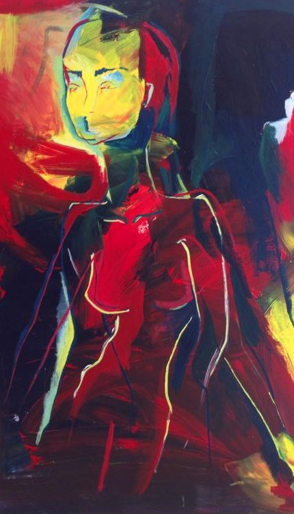 acrylic painting, abstract figurative art, daniela raytchev