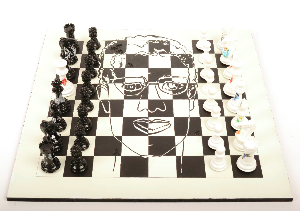 Customized Luxury Chess Board for Purling London Luxury Chess Sets