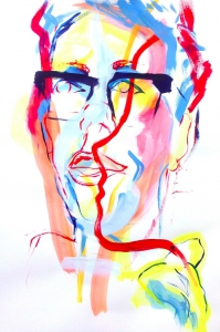 gok wan, abstract portrait, addiction, progress not perfection