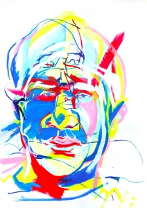tony kelly, abstract portrait, addiction, progress not perfection
