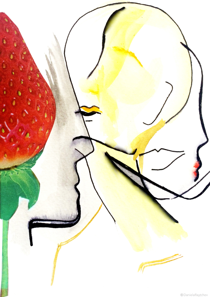 Daniela Raytchev, King's College, Illustrations, Mental Health, Art, Rising star, London, Additions, Online Course, Strawberry