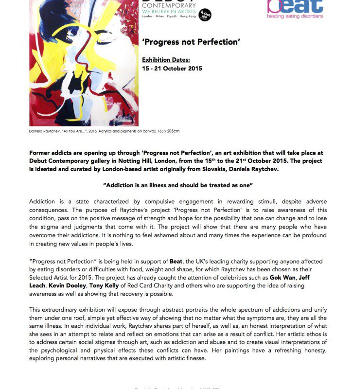 Press Release   'Progress not Perfection' project