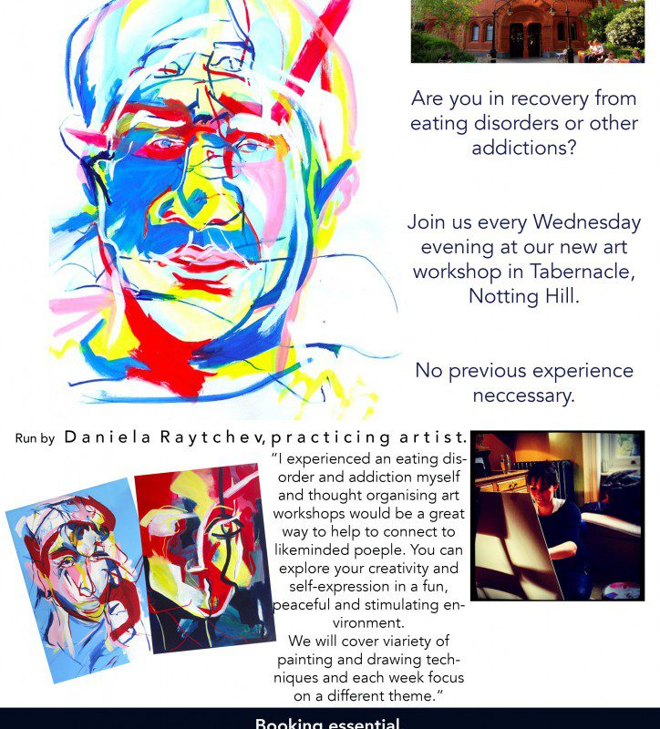 Art Workshops  for people in recovery starting in January 2016